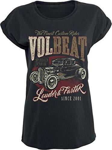 Volbeat Louder and Faster Frauen T-Shirt schwarz S 100% Baumwolle Band-Merch, Bands