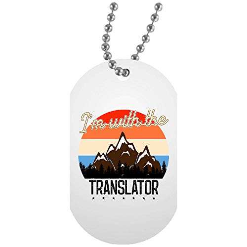 Osborna Arrt Im with The Translator White Dog Tag