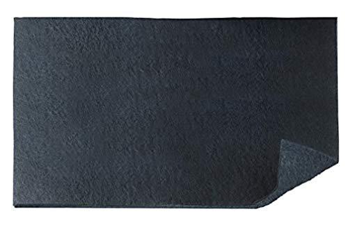 Wenko - Filtro de carbón activo para campanas extractoras contra olores de cocina (poliéster, 57 x 47 cm), color negro