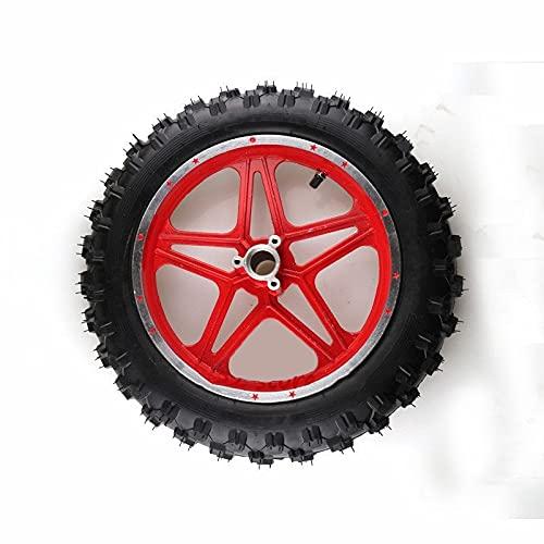 LWXFXBH Neumático de la Motocicleta de Goma 2.50-10 Tubo Interno Tubo Exterior Arte DE LA Rueda del Frente Y Trasero (Color : Front Wheel)