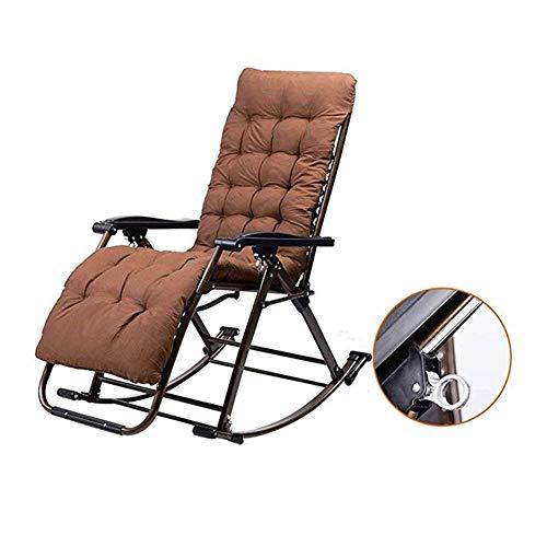 LLSS Silla Plegable, Mecedora, sillas de Comedor Plegables reclinables Ajustables para Patio al Aire...