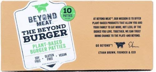 Beyond Meat Burger | Hamburguesa 100% Vegetal | Plant Based | Sin Gluten | Sin Soja | Vegano | Pack de 10 Patties (1,14 kg)