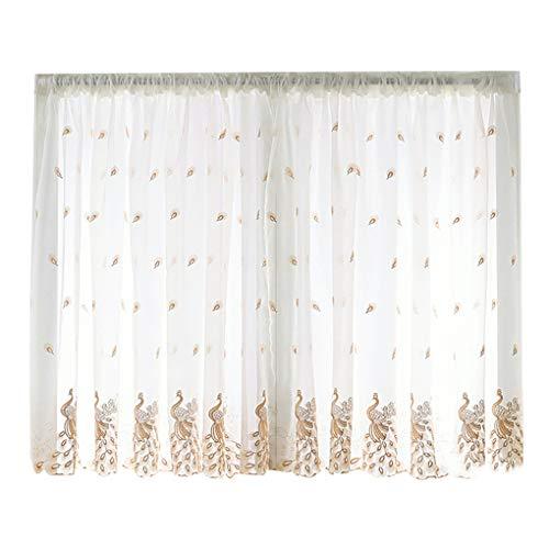 Fish Krótkie okienne przezroczyste zasłony falbanka salon kurtyna pióro haftowane woal pręt kieszeń zasłony zasłony do jadalni