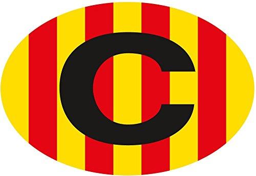 Aufkleber Flagge Oval Katalonien