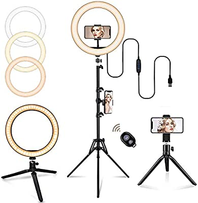 LED Ring Light, Selfie Ring Light with Tripod Stand by