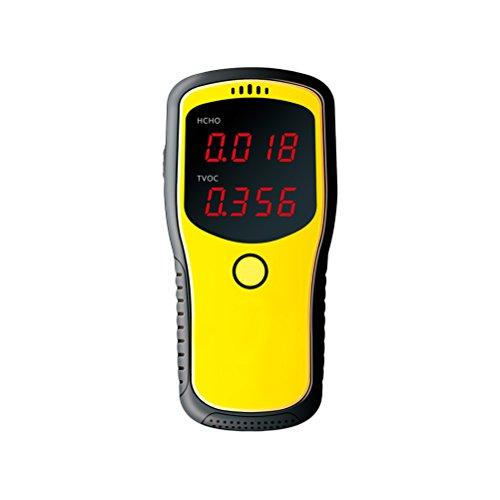 UKCOCO Detector de formaldehído digital, probador portátil de calidad de aire interior HCHO y medidor TVOC