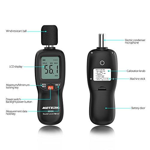 Schallpegelmesser Meterk Schallpegel Messgerät Messung Range 30-130dB - 2