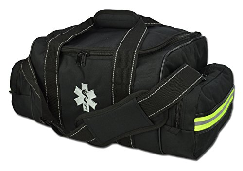 Lightning X Large EMT Medic First Responder EMS Tactical Trauma Bag w/Dividers (Stealth Black)