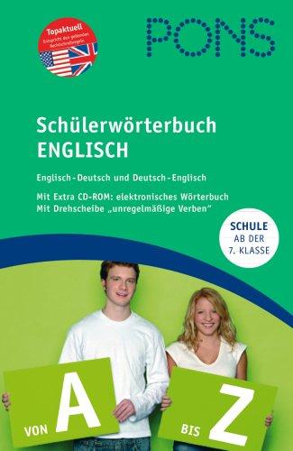 PONS Schülerwörterbuch Englisch. Englisch-Deutsch /Deutsch-Englisch