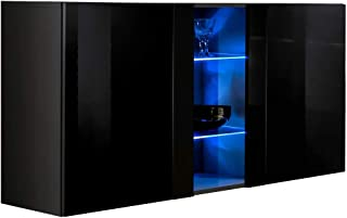 muebles bonitos – Aparador Colgante de diseño Salve en Color Negro
