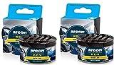 AREON Ken Ambientador de Coche Nuevo New Car Olor Aroma Azul Lata Debajo Asiento Aire 3D (Pack de 2)