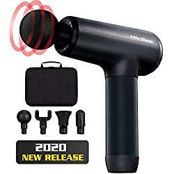 Massage Gun, MicBee Deep Tissue Percussion Massager for Muscle Soreness Pain Relief, Super Quiet Handheld Portable Electric Massager Gun, 6 Adjustable Speeds