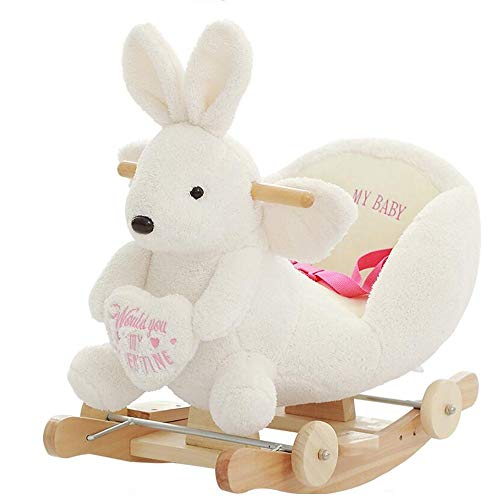 Buy YUMEIGE Rocking Ride-Ons Children's Rocking Horse Rabbit Winter Indoor Toys, Animal Rocking Hors...