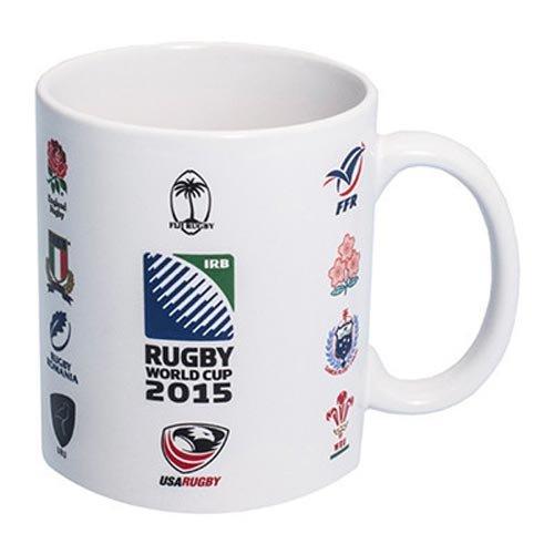 20 Naciones IRB Oficial Copa del Mundo de Rugby 2015 notebookbits en taza de cerámica