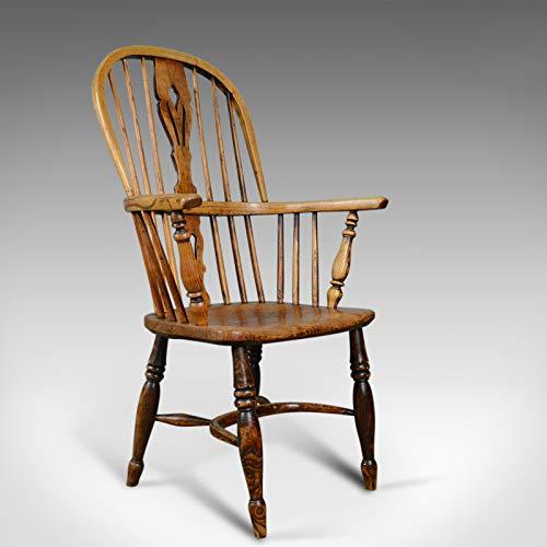 London Fine Antiques - Codera de Viento Antiguo, sillón Victoriano Doble Hoop, ELM, Ash c.1850