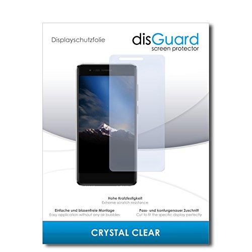 disGuard® Bildschirmschutzfolie [Crystal Clear] kompatibel mit Phicomm Energy 4s [2 Stück] Kristallklar, Transparent, Unsichtbar, Extrem Kratzfest, Anti-Fingerabdruck - Panzerglas Folie, Schutzfolie