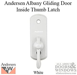 Andersen Albany Style Gliding Door Thumb Latch in White Color