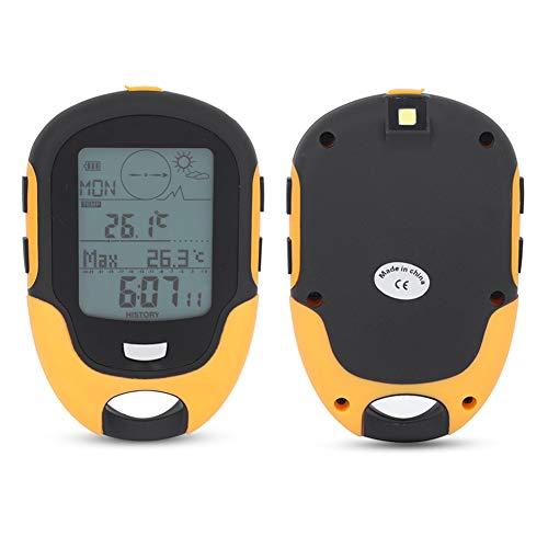 Termómetro de barómetro de altímetro de brújula LCD multifunción Digital para Viajes...