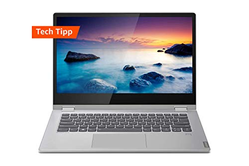 Lenovo IdeaPad C340 Laptop 35,6 cm (14 Zoll, 1920x1080, FHD, IPS, Touch) Convertible Notebook (Intel Core i5-10210U, 8GB RAM, 512 GB SSD, Intel UHD-Grafik, Windows 10 Home) Silber