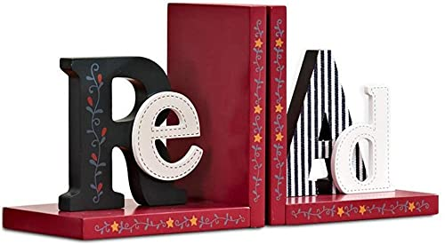 KONGWU Desk Decorative Bookends Cartoon Heavy Duty Wooden Book End Non-skid Bookend for Shelves Book Shelf Holder Bookend Supports Book Stoppers Book Dividers Amazing