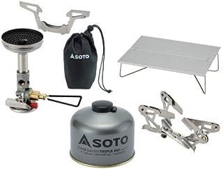 SOTO 4点セット マイクロレギュレーターストーブウィンドマスター パワーガス250トリプルミックス ミニポップアップテーブルフィールドホッパー ゴトク ソト SOD-310 SOD-725T ST-630 SOD-460