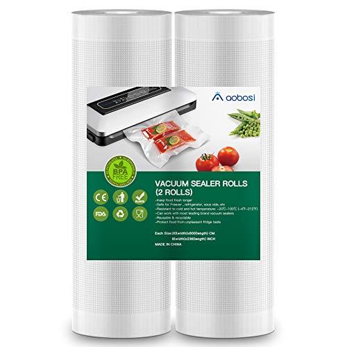 Aobosi Vacuum Sealer Bags Vacuum Food Sealer Rolls BPA Free