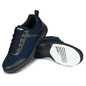 KR Strikeforce Mens Flyer Mesh Lite Bowling Shoes- Black/Royal 10 1/2