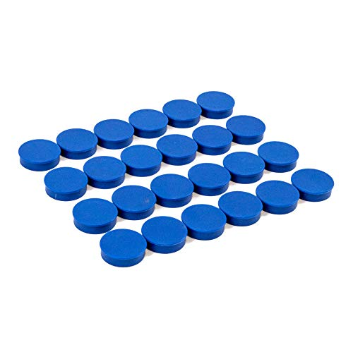 Bullseye Office Magnets (24 Pack) - Blue Round, Refrigerator & Classroom Magnets - Perfect as Whiteboards, Lockers, or Fridge Magnets [Blue]