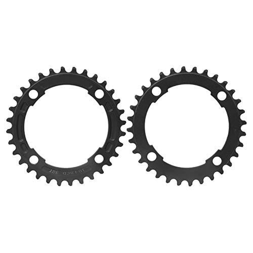 Omabeta Bicicleta de montaña equipo robusto bicicleta solo disco positivo y negativo dientes plato 104BCD para entrenamiento competencia para montar en sendero (32 dientes negro))