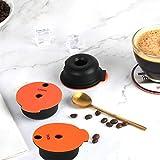 QUJJP Filtro de café Cápsulas de café Reutilizables con Tapa de Slicone Copas de Filtro de café Reutilizables Reutilizables Filtrar (Color : 180ml)