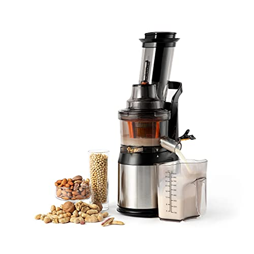 Ventray Slow Press Masticating Juicer,Easy to Clean,BPA Free,Vegetable,Fruits Juice,Compact,Black