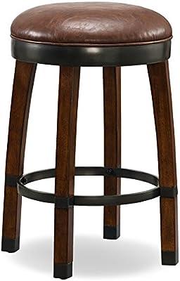 Miraculous Amazon Com Hillsdale Fleur De Lis Backless Swivel Bar Stool Short Links Chair Design For Home Short Linksinfo