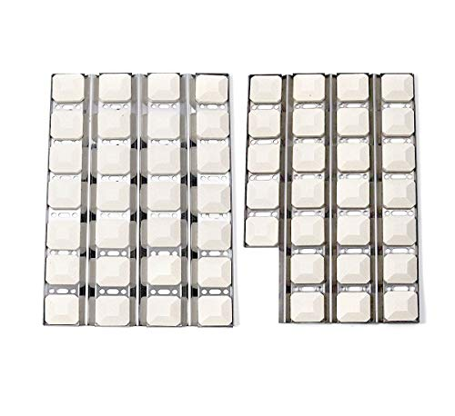 Votenli S9255A(1-Pack) S9256A(1-Pack) Stainless Steel Heat Plate and Ceramic Briquettes (54-Pack) Replacement for Dynasty DBQ30F, Jenn-Air JLG7130ADS