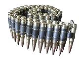 bullet belts .308 caliber shells.Punk Gothic Heavy Metal cosplay