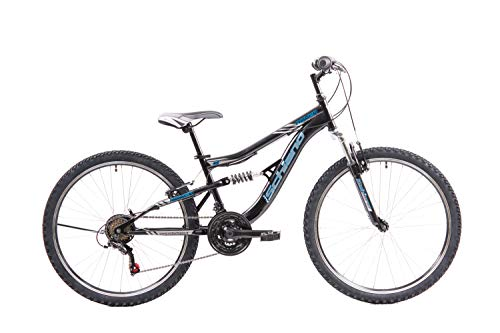 F.lli Schiano Rover Bicicleta de Doble suspensión, Adulto Unisex, Azul Negro, 26''
