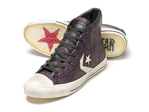 Converse X by John Varvatos JV Star Player EV Leather Shoes Sneakers Grape/White 9 M US/ 11 W US
