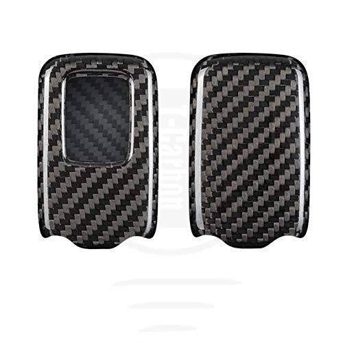 JHSOP Carcasa de Fibra de Carbono para Llave remota de Coche, para Honda Accord Civic 2018 2019 Odyssey CRV Pilot HRV Vezel City Entrada sin Llave