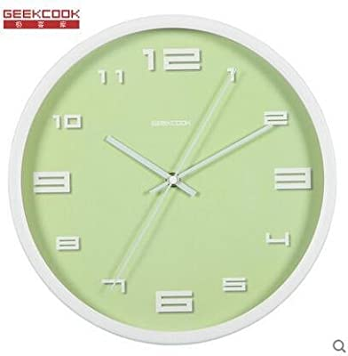 Komo Stylish Bold Classic Quartz Large Wall Clock Non Ticking Silent Idyllic quiet living room bedroom
