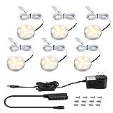 LE LED Under Cabinet Lighting Fixtures, Puck Lights Kit, 1020 Lumens, 3000K Warm...