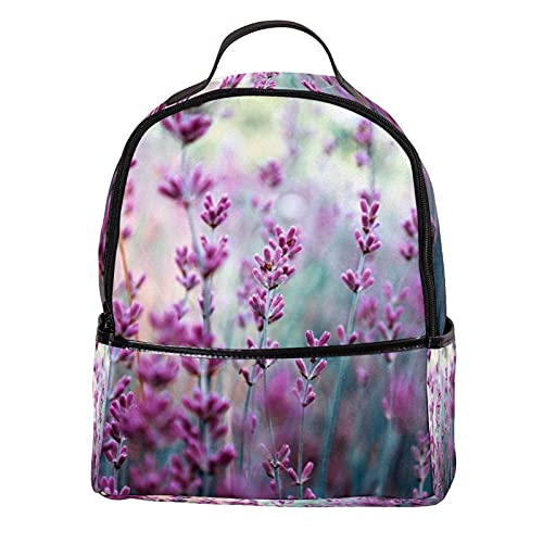 ATOMO Mini mochila casual lavanda pu cuero viajes compras bolsas Daypacks