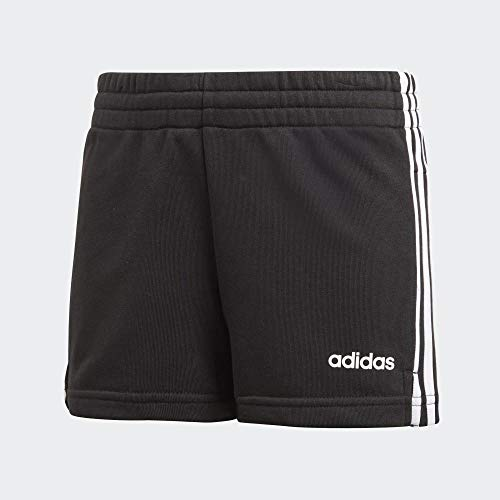 adidas Essentials 3s Short, Shorts Bambina, Black/White, 13-14A