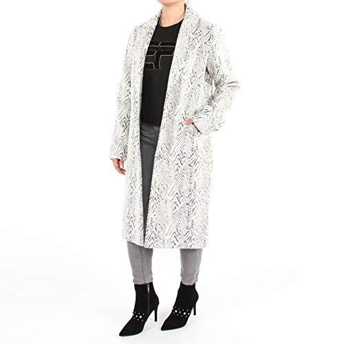 Circle of Trust Mantel Vivi Jacket Oversized Coat wintermantel zebra patroon imitatiebontjack abrig desigual Coat kunstbont mantel grijs wit