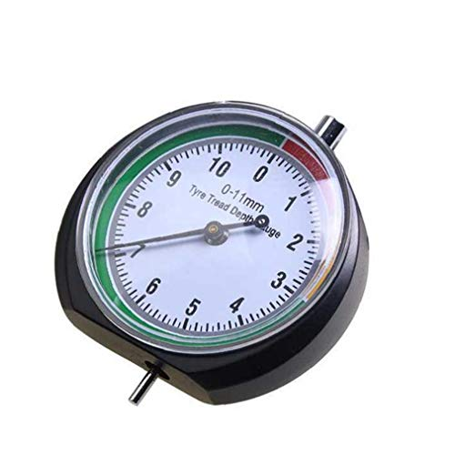 Gracy 0-11mm la Profundidad del neumático Ancho métrico Regla Desgaste del neumático del Coche Herramienta de medición, Medidor de Regla
