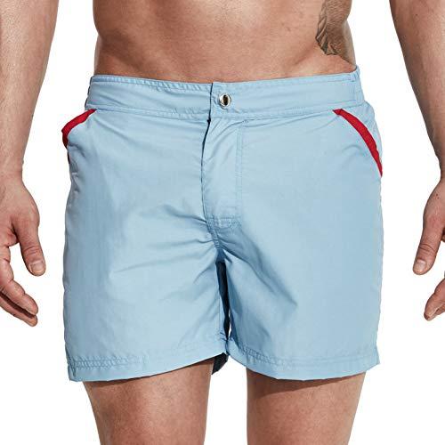 Zwemkleding Mannen Shorts Rits Sluiting Snelle Droge Zwemshorts voor Mannen Strand Zwemkleding Badpak M-XXL