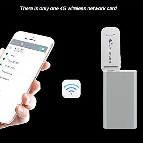 Netzwerkkarte, 4G LTE Stick klein, weiß, universal, entsperrt, Dongle, WiFi, Modem, Router, USB, High-Speed, 150 Mbps Adapter, kabellos (wie abgebildet)