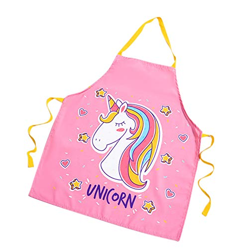 Amamcy Unicorn Apron Colorful for Girl Women Men Chef Cooking Baking BBQ Oven Kitchenware