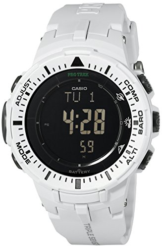 Casio Men's Pro Trek PRG-300-7CR Solar Watch with Off-White Band