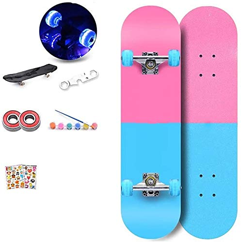 LHHZAL Caster Boards, Street Surfing Wave Board Rider with Steel Structure, Skateboards With2-Wheeled for Adults and Kids Ages 6+ Men and Women (Color : 4)