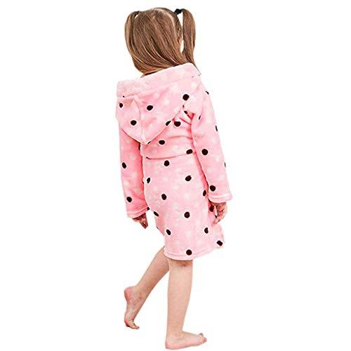 Jongens Meisjes Flannel Badjas Peuter Kids Hoodie Dressing Jurk Warm Slaapmode Nachtkleding voor 1-8 Jaar Huiskleding Hooded Bad Robe Handdoek Pajamas Beste Gift