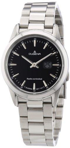 Dugena 4460478 - Reloj analógico de Cuarzo para Mujer, Correa de Acero Inoxidable Color Plateado (Radio)